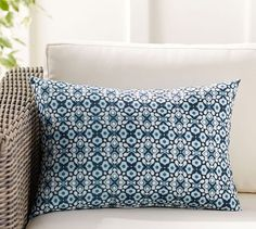 Pottery Barn's outdoor pillows feature style, comfort and durability. Find outdoor chair cushions and enjoy outdoor summer entertaining. Outdoor Chair Cushions, Wicker Sofa, Cushions On Sofa, Outdoor Chairs, Throw Pillows, Lumbar Pillow, Indoor Outdoor, Outdoor Pillow, Outdoor Living