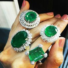 At @thejewellcloset. Stunning emerald and  diamond  Rings  by @Diamentinafinejewels