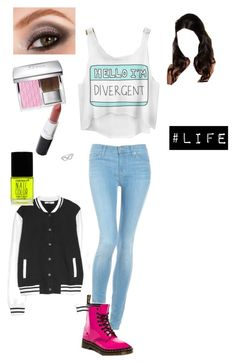 Divergent=life by bellam0914 on Polyvore featuring polyvore, fashion, style, MANGO, Hudson Jeans, Dr. Martens, Jewel Exclusive, Avon, Christian Dior and Forever 21