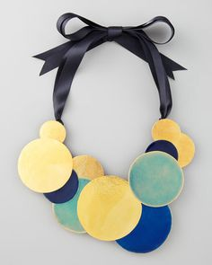 Pastilles Dot Ribbon Necklace