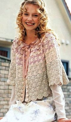 crochet - would make a lovely bed jacket