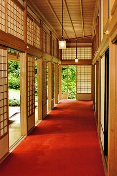 Summer Palace, Nikko Japan A corridor in the old Summer Palace of the Japanese Emperor. Traditional Japanese decor at its finest, literally.