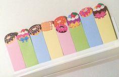 Page Marker Sticky Notes  Sweets by PasoKuma on Etsy
