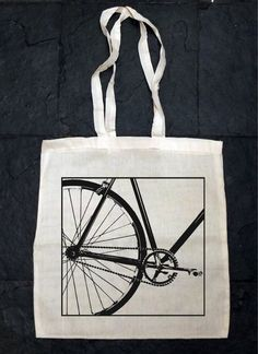 Canvas Totes – BIKE,Fixed Gear bike - Eco Cotton Tote Bag – a unique product by BigFrank on DaWanda