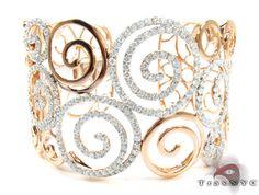 amazing intricate diamond bangle! from traxnyc