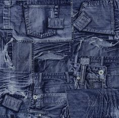 Blauw Jeans behang