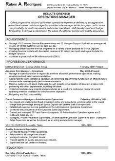 estate manager resume
