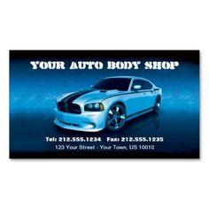 customizable auto body mechanic car detailing business card - Car Detailing Business Cards