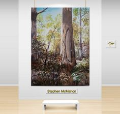 """TITLE: """"Tree in a Forest"""" SIZE: 55 x 35 cms MEDIUM: Oil painting on stretched canvas ARTIST/COUNTRY: Stephen MacMahon AUSTRALIA"""