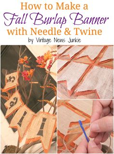 Step-by-step tutorial for making a double layer burlap banner!!