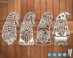 Christmas Gnome, Christmas Baubles, Christmas Crafts, Merry Christmas, Vinyl Paper, Paper Art, Decorate Notebook, Art Plastique, Gnomes