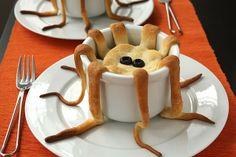 Souffle con tentacoli di pasta sfoglia