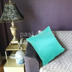 Solid Color Suede Fabric Cushion Cover Throw Pillowcase Protector Lake Blue