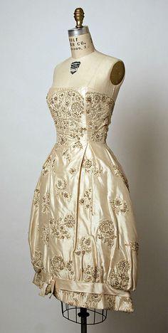 Simonetta evening dress 1958