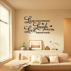 Ecloud Shop Pegatina Adhesivo vinilo decorativo pared Letras Removible 23.5*70CM