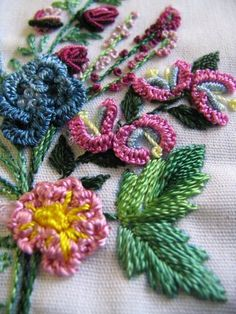 Brazilian embroidery.  Beautiful!  How does one Even envision this in their mind?  I want to learn