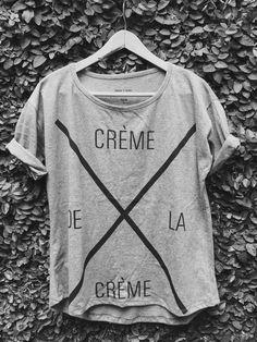 Remera Mujer Crème de la Crème Gris http://www.cremedelacreme.com.ar/mujer2/remeras1/remera-creme-de-la-creme-gris1/