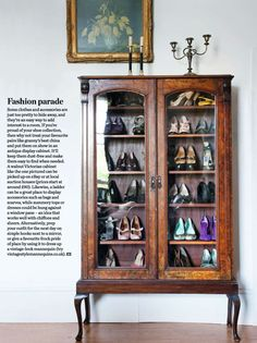 Can just see something like this (has to be more mid-century of course!) with my collection of clogs and Birkenstocks in it. Fab idea for shoe storage
