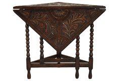 19th-C. Carved Handkerchief Table on OneKingsLane.com