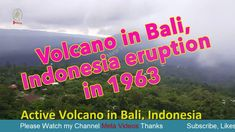 Volcano in Bali, Indonesia eruption in 1963 - Meta Videos Welcome to Meta Videos Entertainment Official Channel! We deeply appreciate all of your l we upload. Active Volcano, Movies Online, Channel, Teaching, Activities, Videos, Video Clip, Teaching Manners, Learning