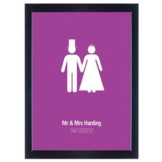Personalised Poster - Mr and Mrs  from www.personalisedweddinggifts.co.uk :: ONLY £19.99