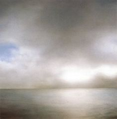 Painting by Gerhard Richter 'Seascape/Seestuck (slightly cloudy)' 1969 Oil on canvas