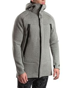 Nike M Nsw Tch Flc - Parka Man, Colour Grey, size L Nike, price in euro£ Nike Fleece Jacket, Nike Jacket, City Outfits, Urban Outfits, Jeans And Sneakers, Jacket Style, Printed Shirts, Parka, Men Sweater