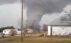 Yesterday's deadly tornado outbreak (March 2nd 2012) spawned this tornado in Perkin, IN  - photo by Jason Carr