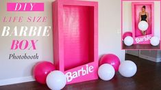 Let me show you how to make this fun Barbie Box. Great for Barbie themed birthday party for adults, tee. Barbie Centerpieces, Barbie Theme Party, Barbie Birthday Party, Birthday Party Decorations Diy, 4th Birthday Parties, Party Centerpieces, Lego Parties, Lego Birthday, Photos Booth