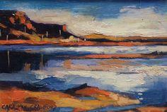 Evening light, colonsay by Cara McKinnon Crawford - 12 x 17 cm