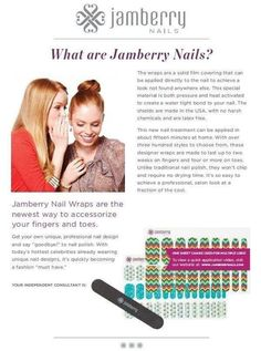 What are Jamberry nail wraps? http://renapj.jamberrynails.net