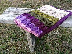 Textil - Deka pásikavá 2 - 5437427_ striped, zig-zag crochet baby blanked