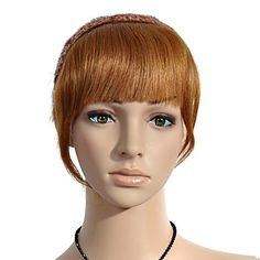 100% Human Hair Thicker Version Bang – USD $ 14.99