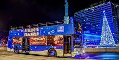 El Bus de la Navidad, un autobús con salida y llegada en la Plaza de Colón (calle Serrano, frente al nº 30. Parada única), te permite disfrutar del ambiente navideño de la manera más cómoda. El autobú