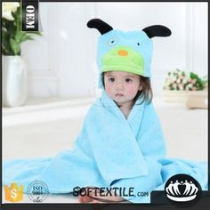 100% Cotton Embroidered Animal Hooded Poncho Pattern Organic Bamboo Baby Hooded Towel