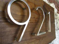Love this house numbers - modern and homey