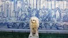 """A 19 de Outubro de 1889, morre em Cascais, D. Luís I (1838-1889), cognominado """"O Popular"""", segundo filho da rainha D. Maria II (1819-1853) e do rei D. Fernando II (1816-1885). Painel de azulejos do séc. XVII. Fonte do Museu de Castro Guimarães, Cascais."""