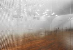 Can this be my dance classroom? Beijing based architects Tsutsumi and Associates have completed this dance studio in Beijing with mirrored walls covered in tiny graduated dots to create the illusion of a mist hanging in the air.
