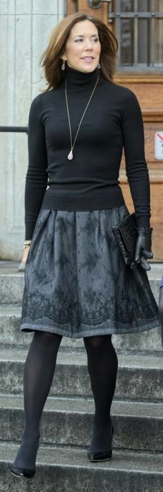 Danish Crown Princess Mary: in black + absolutely beautiful.