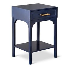 Threshold™ Accent Table with Bamboo Motif Handle - Navy $70
