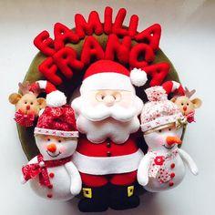4th Of July Wreath, Merry Christmas, Christmas Ideas, Christmas Decorations, Wreaths, Diy, Door Hangings, Christmas Ornaments, Felt Wreath