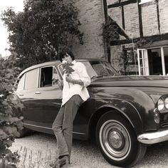 Keith Richards with his Bentley S3 Continental Blue Lena, Redlands, West Sussex, 1966 (photo by Gered Mankowitz)