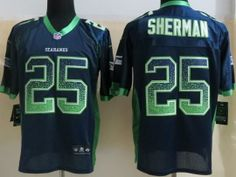 Nike Seattle Seahawks 25 Richard Sherman Elite Blue Drift Fashion Elite NFL  Jerseys 1397e3bc1