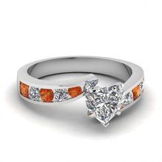 Orange Wedding Rings