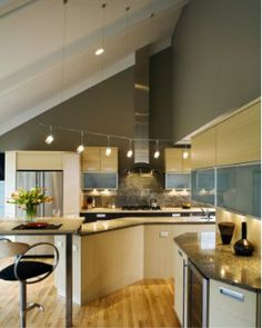 Endearing 80 Ceiling Track Lights For Kitchen Decorating & Track Lighting Kitchen Sloped Ceiling - Kitchen Design Ideas azcodes.com