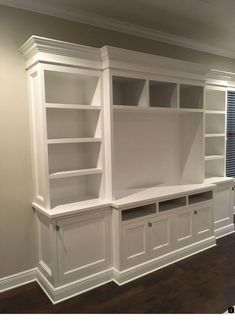 Hampton style built in furniture living room built in cabinets, living room tv, living Built In Shelves Living Room, Built In Wall Units, Tv Built In, Living Room Tv, Home And Living, Living Room Furniture, Tv Wall Cabinets, Built In Cabinets, Built In Tv Cabinet
