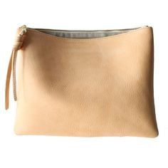 Tan Leather Pouch \ Val's Fashion: http://www.rennes.us/