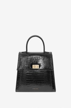 8ff558e374 Anine Bing Katya Bag - Black Croc ONE Anine Bing