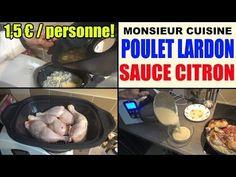 poulet aux lardons riz et sauce citron recette monsieur cuisine lidl silvercrest - YouTube