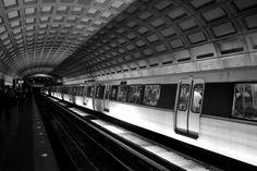 Estações de Metrô. Washington, EUA